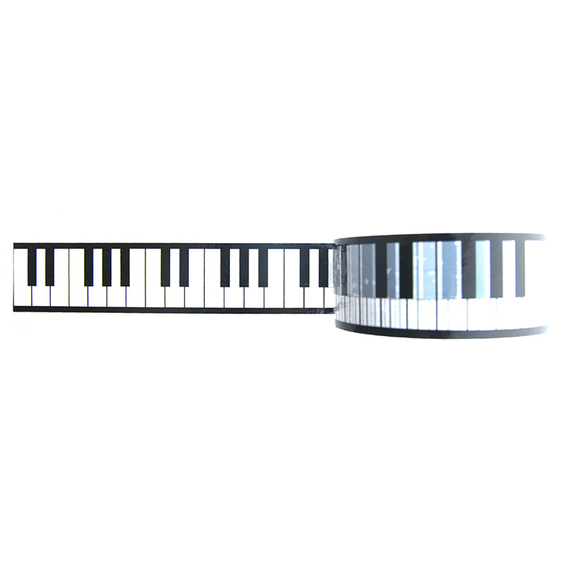 黑白钢琴键创意胶带